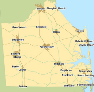 SDI Sussex County Map